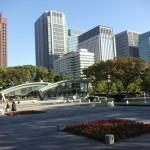 会場の隣 和田倉噴水公園