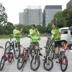 d-bike様から自転車ご提供に感謝、皆さんJMAインストラクターです