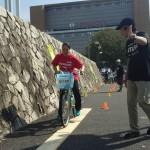 沖 美穂選手(自転車)一本橋に挑戦