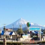 会場(池田東静岡公園)から見える美しい富士山