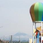 会場から富士山が見えます