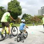 補助輪つき自転車もあります